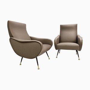 Italienische Sessel im Marco Zanuso Stil, 1950er, 2er Set