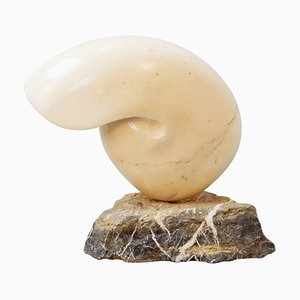 Marble Nautilus Shell Sculpture, 1970s