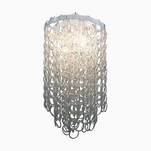 Mid-Century Italian Glass Link Chandelier