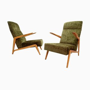 Armchairs Attributed to Augusto Romano, Set of 2