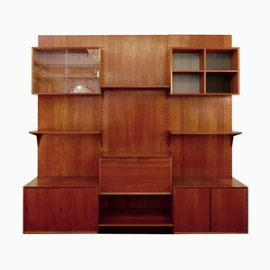Modular Shelving System Wall Unit by Poul Cadovius for Cado, Denmark, 1960s