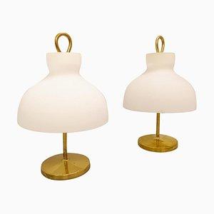 Lámparas de mesa modelo Arenzano LTA3 de Ignazio Gardella para Azucena, años 60. Juego de 2