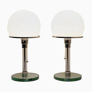 Bauhaus Lamps by William Wagenfeld & Carl Jakob Jucker, Set of 2