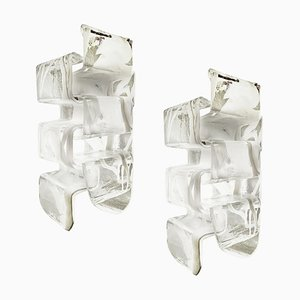 Murano Glass Sconces from Mazzega, Italy, 1970s, Set of 2