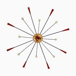 Große Vintage Sputnik Deckenlampe