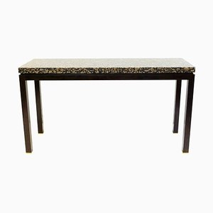 Granite and Wood Console Table by Edward Wormley