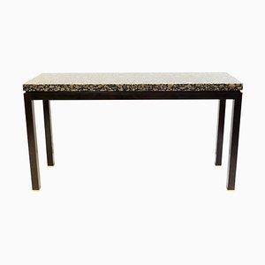 Konsolentisch aus Granit & Holz von Edward Wormley