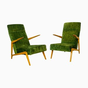 Vintage Armchairs Attributed to Augusto Romano, Set of 2