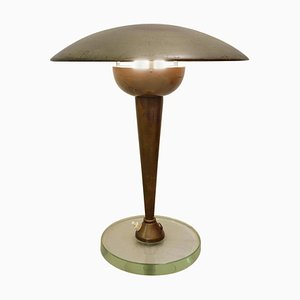 Brass and Glass Desk Lamp from Stilnovo, 1950s