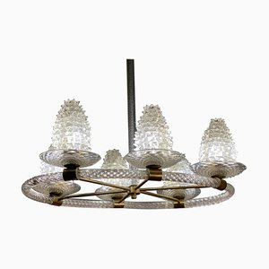 Rostrato Chandelier by Barovier, 1940s
