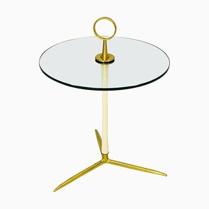Brass Side Table by Cesare Lucca, italy, 1950s