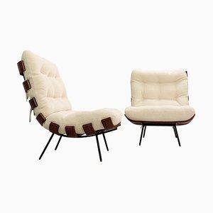 Model Costela Lounge Chairs by Martin Eisler & Carlo Hauner, Brazil, 1960s, Set of 2