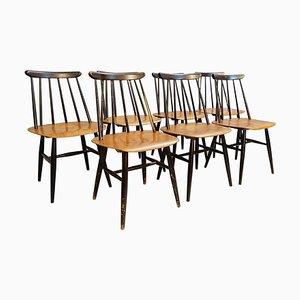 Fanett Dining Chairs by Ilmari Tapiovaara for Edsby Verken, Set of 7