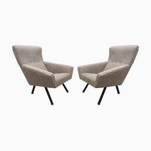 Italienische Mid-Century Sessel mit Hoher Rückenlehne, 2er Set