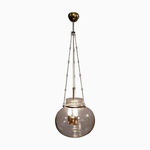German Brass and Glass Pendant Lamp from Glashütte Limburg, 1970s