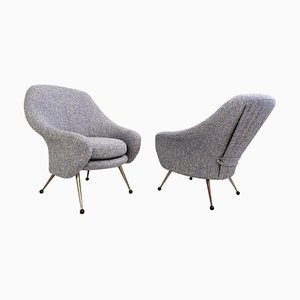 Mid-Century Model Martingale Armchairs by Marco Zanuso for Artlex, Set of 2