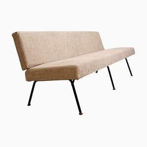 Mid-Century Italian Tubular Frame in Black Metal Sofa