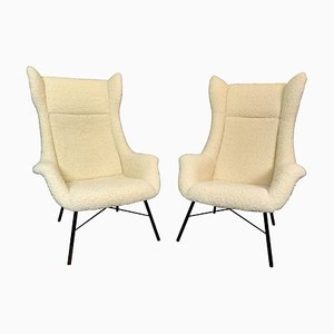 Wingback Armchairs by Miroslav Navratil, 1960s, Set of 2