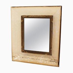 Murano Glass Mirror by Carlo Scarpa for Venini, Italy, 1930s