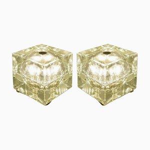 Grüne Cubo Sfera Tischlampen von Alessandro Mendini, 1968, 2er Set