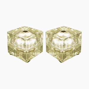 Lampes de Bureau Cubo Sfera Vertes par Alessandro Mendini, 1968, Set de 2