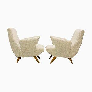 Armchairs by Nino Zoncada, Italy, 1950s, Set of 2