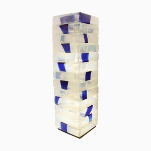 Lámpara de pie de cristal de Murano de Carlo Nason, Italy, años 60