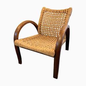 Mid-Century Rope Armchair by Adrien Audoux & Frida Minet