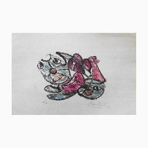 Lithographies Forms / Animals par Edgar Stoebel, Set de 3