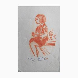 Litografie di Edgar Stoebel, set di 3