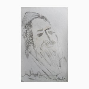 Rabbi Lithographien von Edgar Stoebel, 2er Set