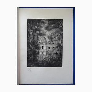 View of the Park Etching by Michel Ciry