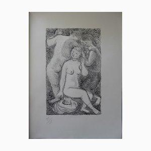 Litografía The Bathers de Maurice Savin