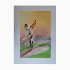 Golf: Finish Lithographie von Maurice Fillonneau