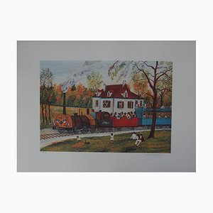The Train from St Germain Lithograph by Dan Gandré