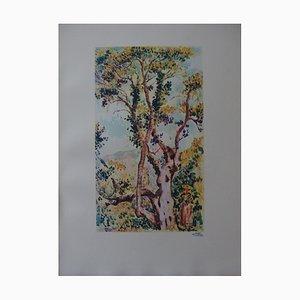 Walk in the Woods Gravur Holz von Edouard Fer, 1932