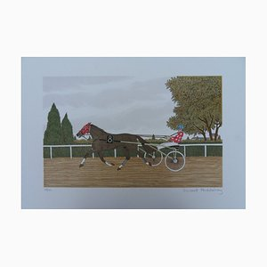 Le Sulky LIthograph by Vincent Haddelsey