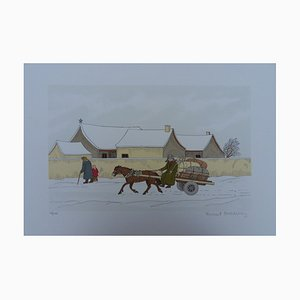 Horse Winter Lithograph by Vincent Haddelsey