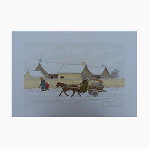 Horse Winter Lithographie von Vincent Haddelsey
