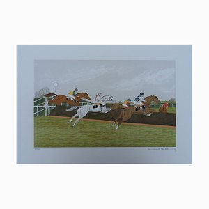 The Jump Obstacle Course Lithograph by Vincent Haddelsey