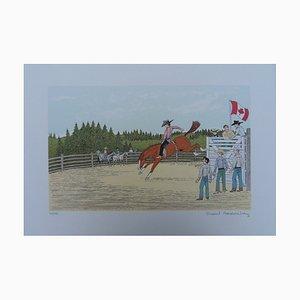 Litografia Cowboy au Canada di Vincent Haddelsey