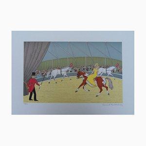 Litografia Circus Horse di Vincent Haddelsey