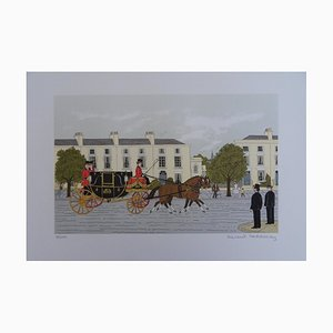 The Royal Carriage Lithograph by Vincent Haddelsey