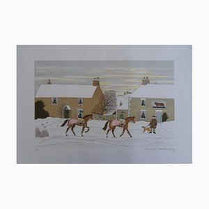 Walk in the Winter Lithograph by Vincent Haddelsey