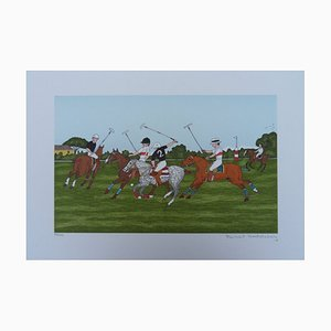 The Polo Players Lithograph by Vincent Haddelsey