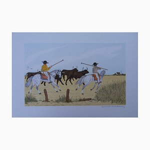 Litografia The Bulls Guards di Vincent Haddelsey
