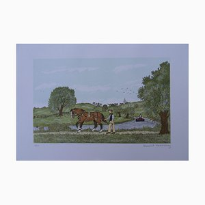 The Horse Hauling Lithografie von Vincent Haddelsey