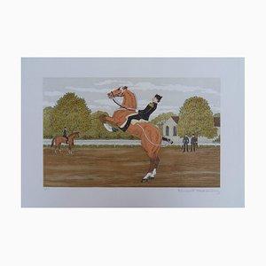 Litografia The Prancing Horse di Vincent Haddelsey