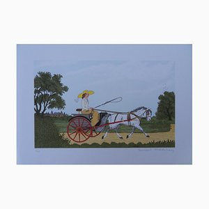 The Cart Lithograph by Vincent Haddelsey