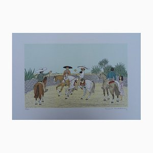 Mexico: the Gauchos Lithografie von Vincent Haddelsey
